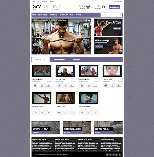 premiumpress video WordPress theme