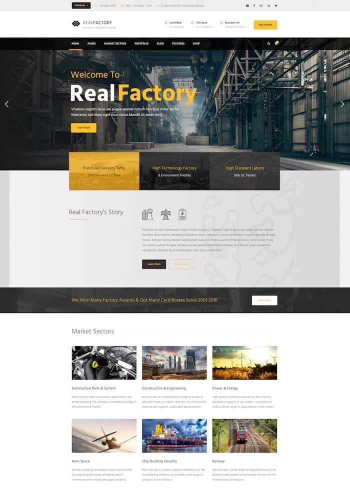 real-factory-wordpress-theme