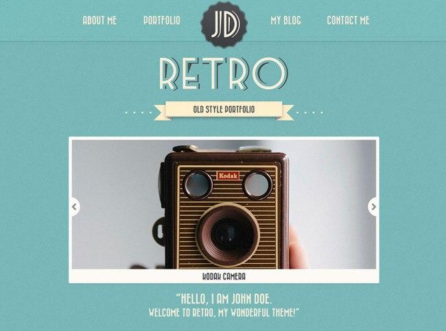retro-portfolio-theme