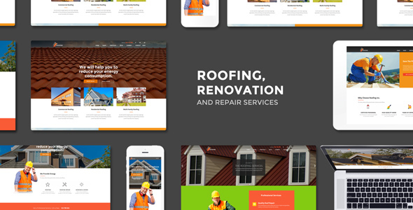 Industrial - Roofing, Renovation and Repair Service WordPress Theme