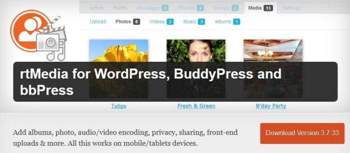 rtMedia for BuddyPress