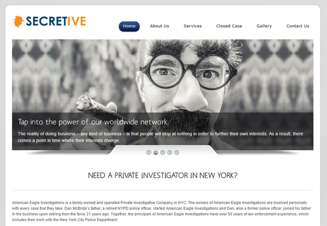 Investigators WordPress Theme