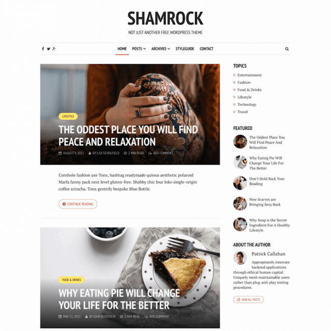 shamrock-wordpress-theme