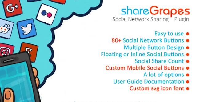 shareGrapes Social Media Sharing Plugin