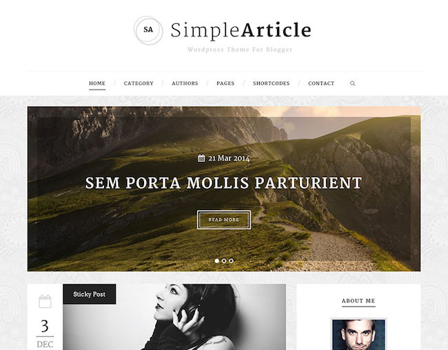 simplearticle-blogging-theme