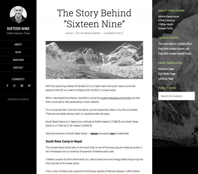 sixteennine-WordPress-theme