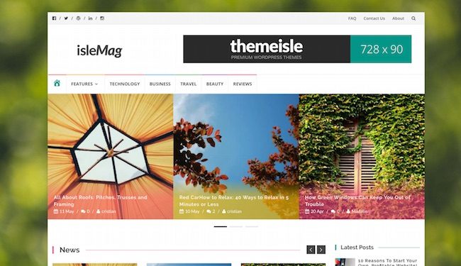 isleMag Free Colorful Magazine Wordpress Theme