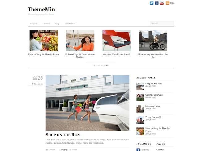thememin minimal wordpress theme