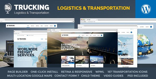 Trucking Transportation Logistics WordPress Theme
