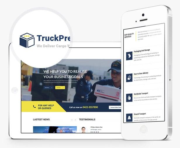 TruckPress Industrial WordPress Theme