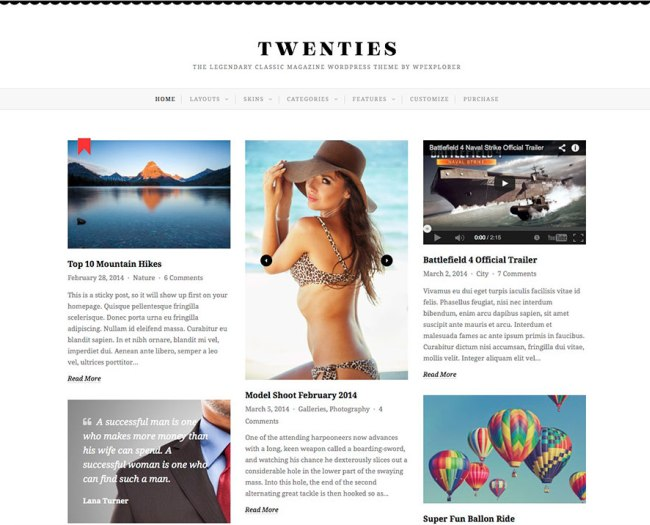 twenties-wordpress-grid-theme