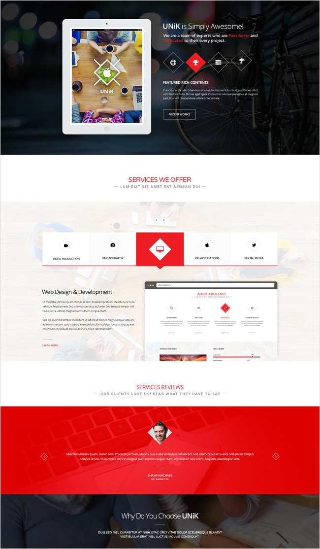 unik WordPress theme