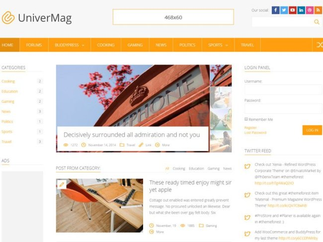 univermag WordPress Theme