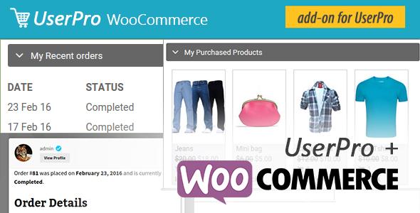 UserPro WordPress WooCommerce plugin dashboard