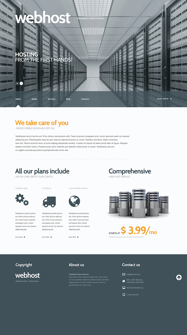 web Hosting WordPress Theme