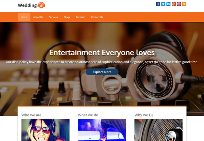 WordPress Theme For DJ Organizer