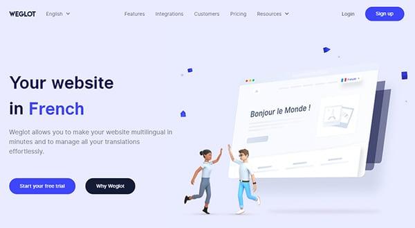 Weglot translation plugin