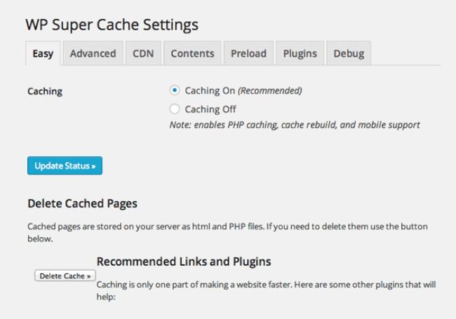 wp-super-cache-easy