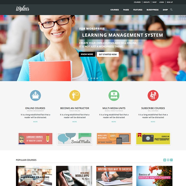 wpls-learning-management-system-wordpress-theme
