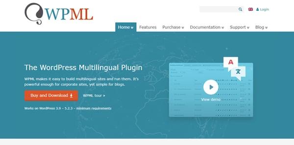 wpml multilingual plugin for wordpress