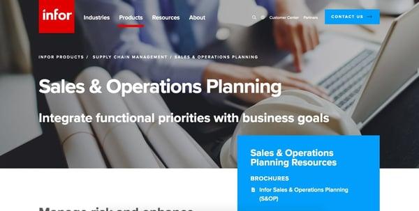 Infor S&OP Software