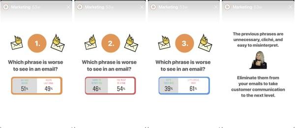 HubSpot Poll Instagram Story