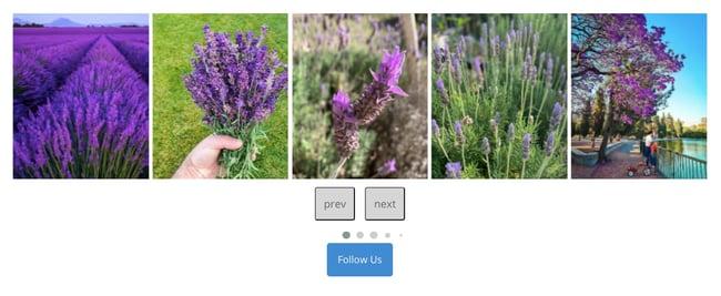Instagram carousel demo for WordPress website created with Enjoy Social Feed Plugin