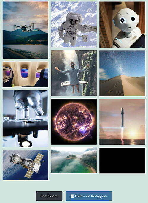 Instagram feed created with Easy Social Feed plugin for WordPress