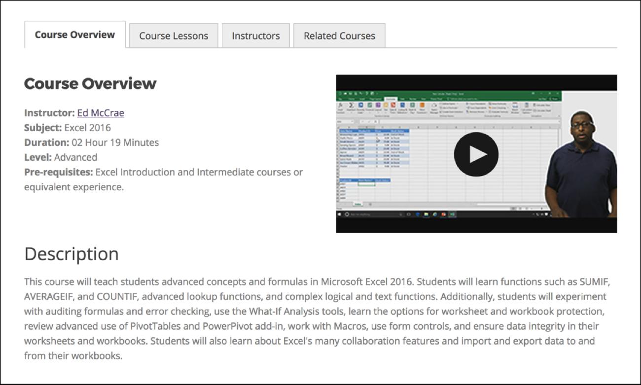 Intellezy Excel課程概述