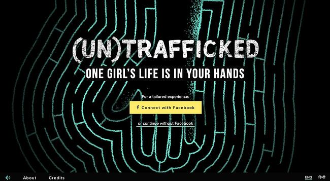 Interactive website (UN)TRAFFICKED invites users to follow a 13-year-old girl throughout a life-changing week
