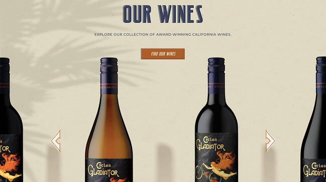 Interactive website allows uers to view their wine collection bottle by bottle