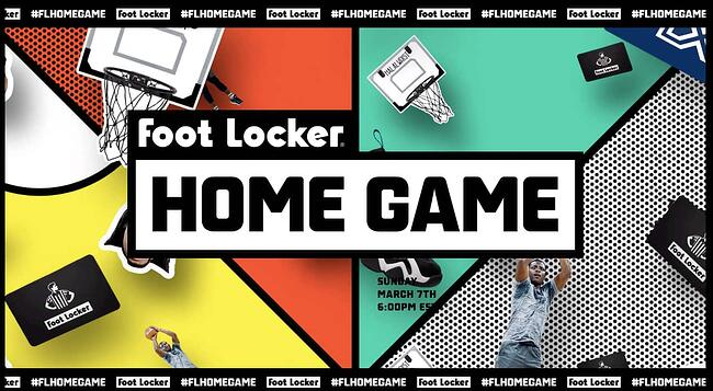 Interactive website for Foot Lockers Home Game contest