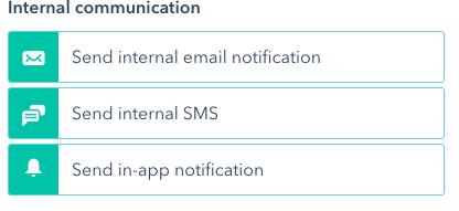 Internal Communication Option
