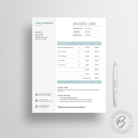 Basic Invoice Sample