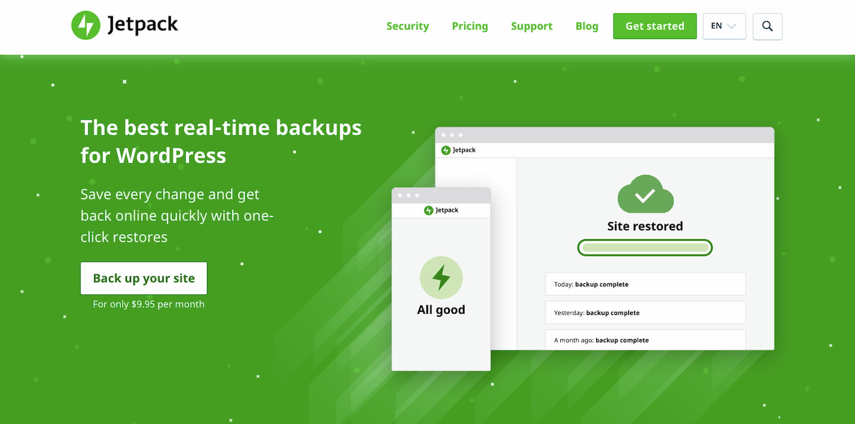 Jetpack Backup plugin offers real-time backups for WordPress