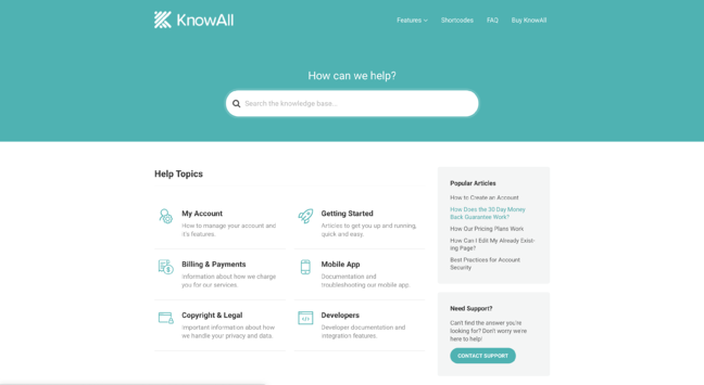 KnowAll Knowledge Base