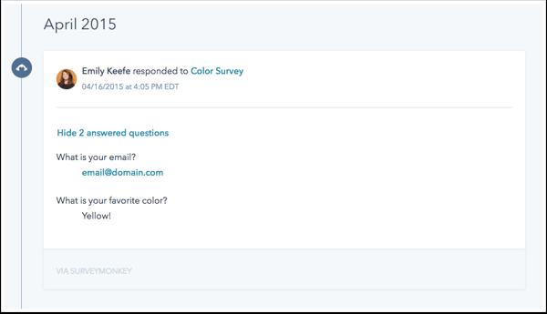 SurveyMonkey + HubSpot integration