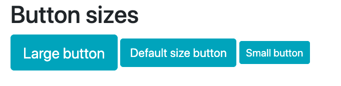 Large, default, and small Bootstrap button sizes side-by-side