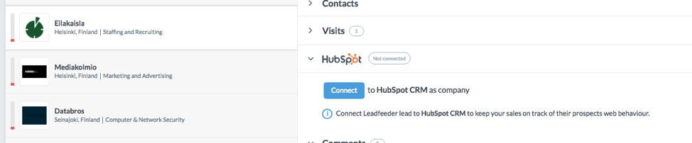 Connect to HubSpot CRM as Company