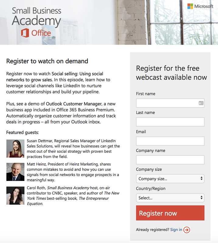 microsoft-small-business-academy-lead-generation-form