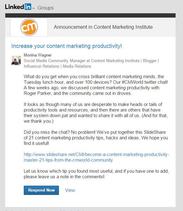 LinkedIn-group-announcements
