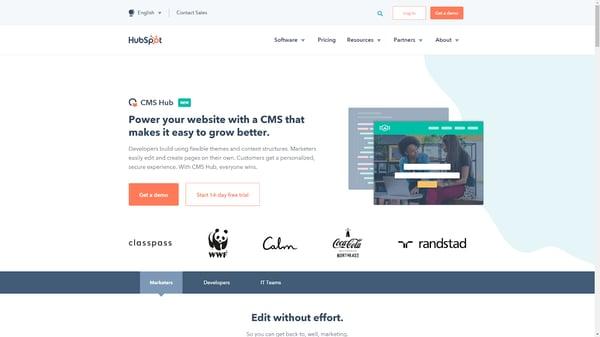 HubSpot is a full featured web development solution.