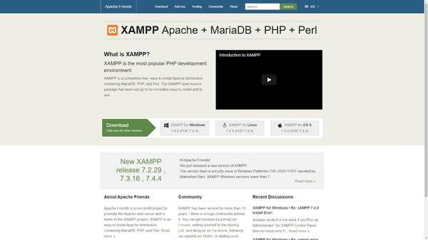 XAMPP is a local web development tool.