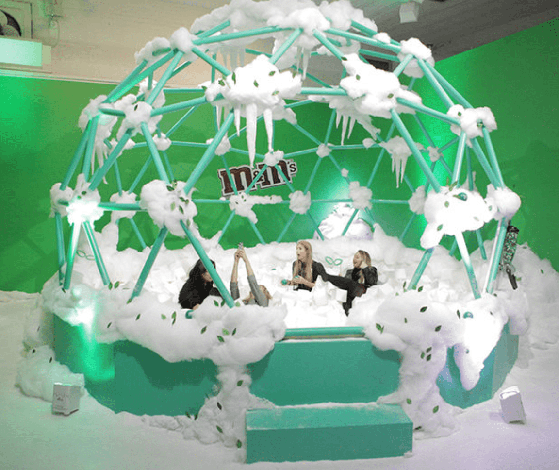 M&Ms immersive pop-up in NYC