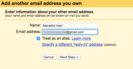 adding another email address you own to Gmail
