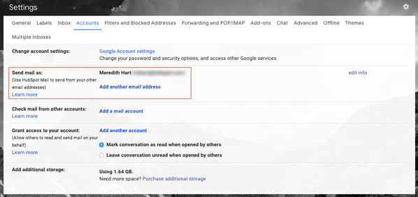How to add a secondary Gmail account