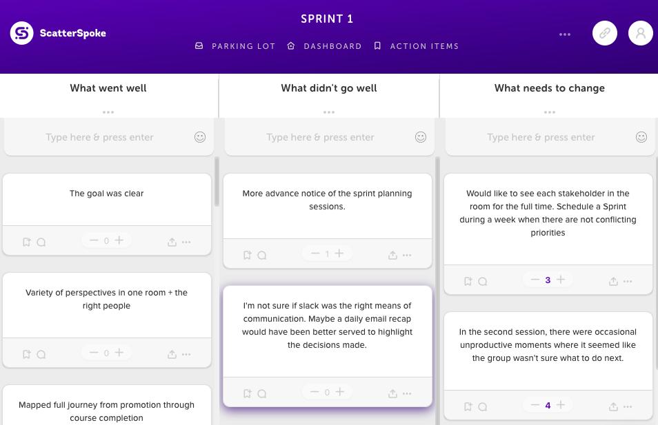 scatterspoke sprint planning