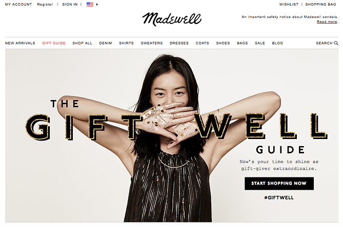 Madewell Vacation Homepage