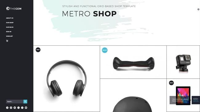Metro Shop demo of the best WordPress ecommerce theme TheGem