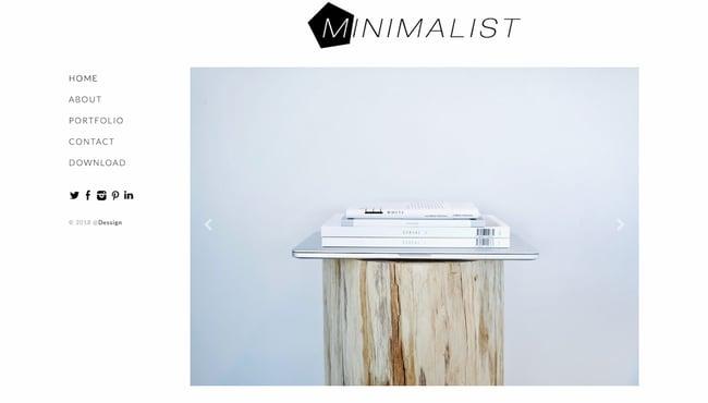 Minimalist WordPress theme with responsive slider and vertical navigation menu-3